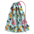 Beautiful Butterfly Library Bag or Toy Bag.  Perfect for Kindy or School.