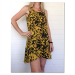Mustard 'Juliet' dress, size 14