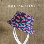 "Children's Bucket Hat ""Watermelons"" Children's Sun Hat - Bucket hat, infant hat,"