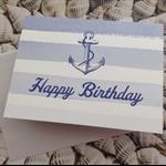 Nautical Anchor Design Birthday Card