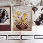 3 Australiana Cards - handmade