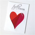 Love Heart Valentines Day Card - Together Forever