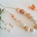 Marble Jewellery Set - White/Cocoa/Copper