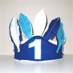 Boys Birthday Hat, Native Indian Feather Crown