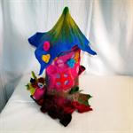 Felted Flower Lamp Fairy House Lamp Art
