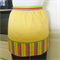SALE!! FREE SHIPPING -  Half Apron yellow - Candy Stripes - womens lined apron