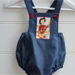Boys retro rompers - vintage overalls, baby boys gifts, toddler clothes
