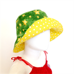 Aussie Green and Gold Stars Bucket Hat to fit 1-2 years