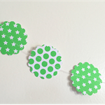 Polka Dots and Stars | Green and White Garland (132cm)
