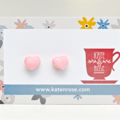 Miniature pastel pink macaron - macaroon - polymer clay - food jewellery
