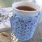 Mug cozy, coffee cosy, cup warmer, light blue| teacher, Christmas, birthday gift