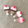 Ice-cream felt hair clip, summer, yummy, accessory for a girl