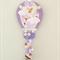 Hot air balloon hair clips holder, felt, purple, bee, yellow