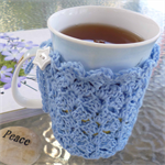 Mug cozy, coffee cosy, cup warmer, light blue | teacher gift | birthday
