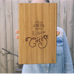 Small Cheese Board Laser Engraved | Serving Platter | Bread Board | Cheese Plate