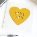 Handmade Love You Card, Anniversary, Wedding, Engagement, Valentine, Christmas