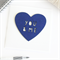 You & Me Love card heart navy Anniversary Valentine Valentine's Day Wife Husband