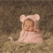 Baby Bear Bonnet  / Newborn Photography / Pink / Soft Teddy Bear Hat