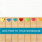 Custom Bookmark ADD TEXT bamboo wood heart Birthday Valentine Love Christmas