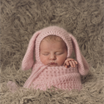 Baby Bunny Bonnet  / Newborn Photography / Pink / Soft Rabbit Hat