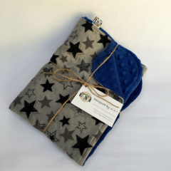 Black Star/Cot/Pram Minky Blanket