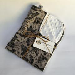 Zebra/Cot/Pram Minky Blanket