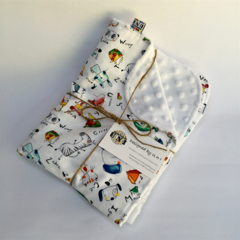 Baby Animal/Cot/Pram Minky Blanket