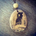 Wooden, Black Cockatoo Photo Pendant
