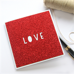 Love card red glitter Anniversary Valentine Valentine's Day Wife Husband