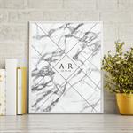 Marble Initial Keepsake Print