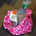 Market Bag - Pink Polka Dots