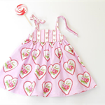 """Size 3 and 4 """"Valentine Roses"""" Party Dress"""
