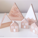 Wooden Village Set CUSTOM ORDERED