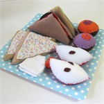 Felt Play Food Set, Sandwiches, Cupcakes, Fairy Bread, Apples