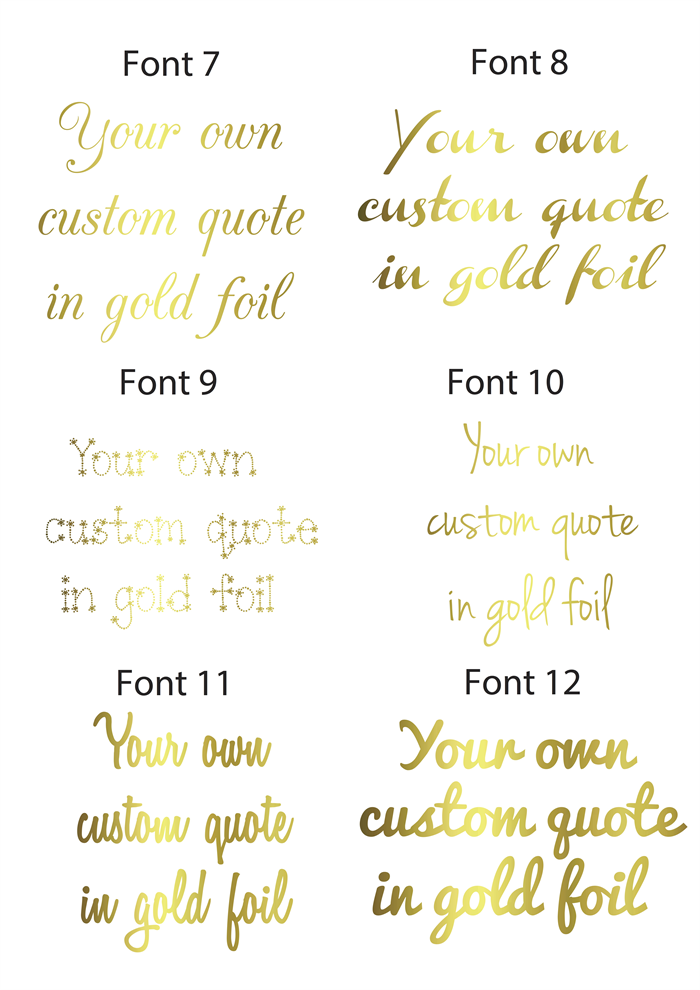 Custom Gold Foil Print- Your own quote in gold foil! Choose your