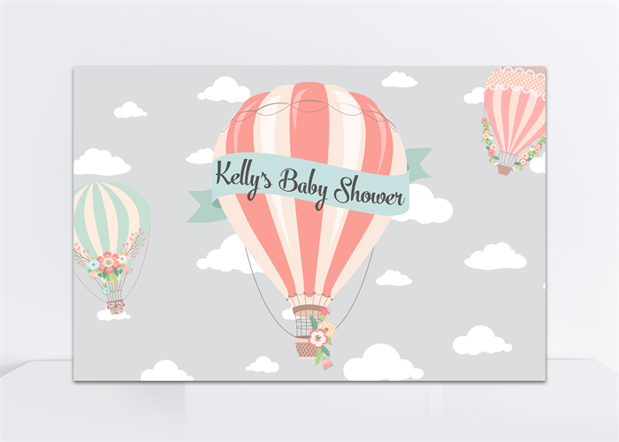 image relating to Printable Hot Air Balloon identify Printable Backdrop, Scorching Air Balloon, Lady Kid Shower