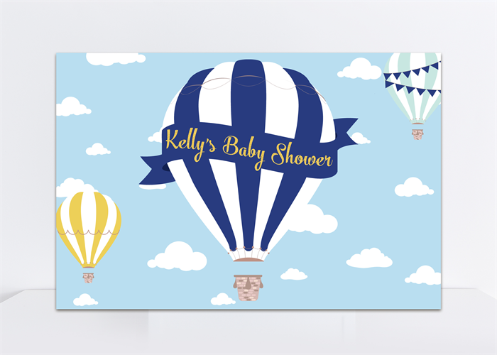 image relating to Printable Hot Air Balloon identify Printable Backdrop, Scorching Air Balloon, Boy Little one Shower