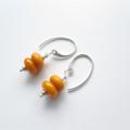 Petite egg yolk yellow drop earrings by Sasha+Max