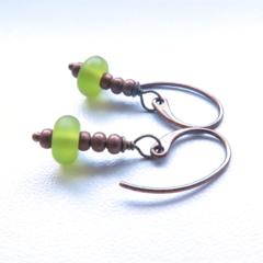 Lime time green petite drop earrings