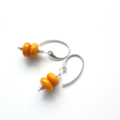 Petite egg yolk yellow drop earrings by Sasha+Max