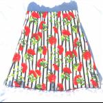 Australian bottle brush striped skirt size 6/7 Ready to ship☺