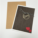 Valentines Day Handmade Card Woodgrain
