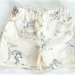 Geometric dinosaurs  shorts. Size 9mth, 1 & 4 Berry Coot 