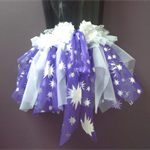 MYSTICAL BABY TUTU, purple white silver tutu, 6 month 1 year old, dance costume