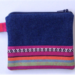 Aztec Style Upcycled Denim Purse