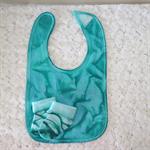 Hand Painted Baby Bib and Socks Set - Jade Green