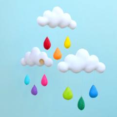 "Cloud trio mobile ""Rainbow"""