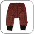 SIZE 0 Unisex Red Tartan Check Harem Pants