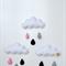 """Handmade felt mobile, cloud trio, """"Paris"""" nursery decor"""