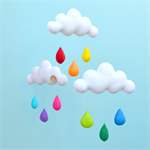 "Cloud trio mobile ""Rainbow"""